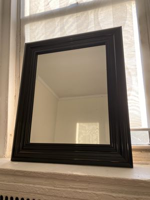 Mirror with black wooden frame for Sale in Queens, NY