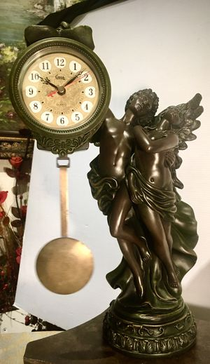 Gorgeous vintage sculpture decorative accent clock H17xW9xD8 inch Lbs 7 for Sale in Chandler, AZ