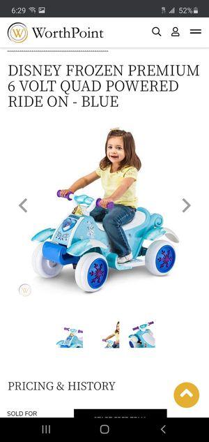 Kid Trax DISNEY FROZEN PREMIUM 6 VOLT QUAD POWERED RIDE ON Motorcycle bike for Sale in Hoffman Estates, IL