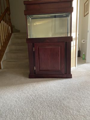 Cherry Wood 20 Gallon Tank, Cabinet and Canopy for Sale in MD, US