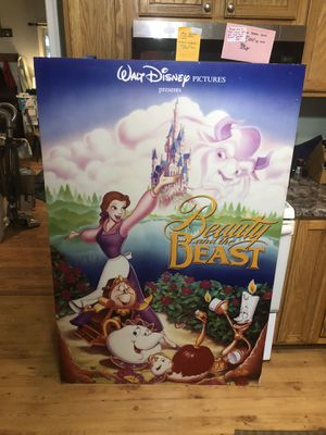 Beauty and the Beast Original Disney Movie Release Display for Sale in Millers, MD