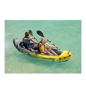 Intex Explorer K2 Kayak, 2-Person Inflatable Kayak Set with Aluminum Oars and High Output Air Pump for Sale in Newark, CA