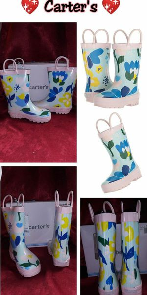 Toddler girl Carters rain boots size 11c New in Box $25 🙅 firm pick up ONLY for Sale in Los Angeles, CA