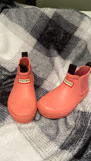 Hunter rain boots size 8 for girls for Sale in Humble, TX