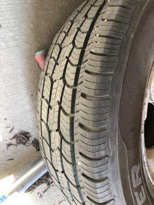 Two cooper tires 225/70r16 on chrome rims for Sale in Lehi, UT