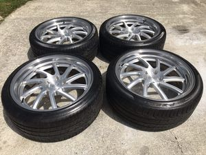 20 NICHE DEEP DISH RIMS AND TIRES 5x120 for Sale in Auburn, WA