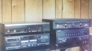 Power Amp., Audio Video Receiver, 6 CD Disc Player, Dual Tape Deck for Sale in Hicksville, NY