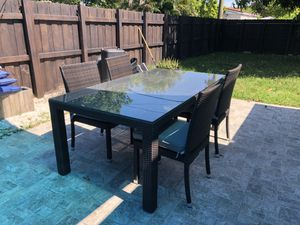 Beautiful dark gray dining patio set!!! for Sale in Miami, FL
