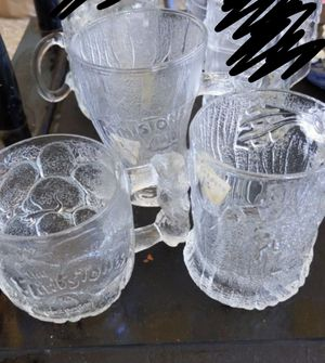 The Flintstones 1993 glass mugs collection of 3 for Sale in Pasadena, TX