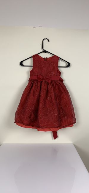 Toddlers fancy princess red embroidered dress 3T for Sale in Austin, TX