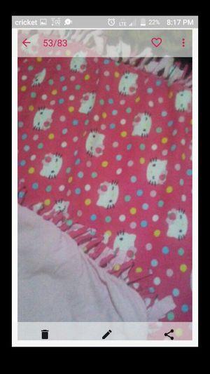 Hello kitty fleece knot tie blanket for Sale in Fresno, CA