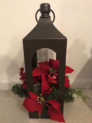 11 in metal Christmas Lantern. Beautiful as a centerpiece or anywhere in your home. BRAND NEW! for Sale in Southwest Ranches, FL