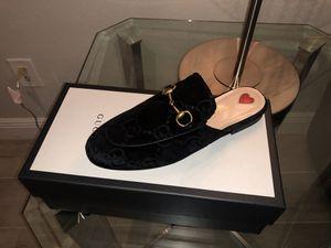 Gucci Princetown GG supreme Women's Velvet Mules size 6.5 for Sale in Miramar, FL