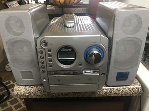 Memorex radio and CD player five disc holder with remote for Sale in Sacramento, CA
