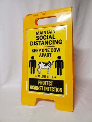 SmartSign Maintain Social Distancing Folding Sign for Sale in Yucca Valley, CA