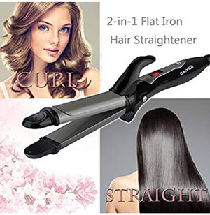 Hair Straightener Professional Flat Iron Curling Wand 2 In 1 Anti-Static for Sale for sale  New York, NY