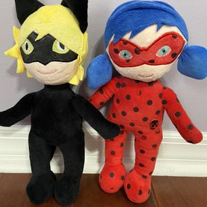 Miraculous Ladybug And Cat Noir Plushes for Sale in Fort Lauderdale, FL