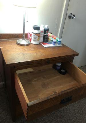 Hardwood Bed Side Cabinet. for Sale in Fort Lauderdale, FL