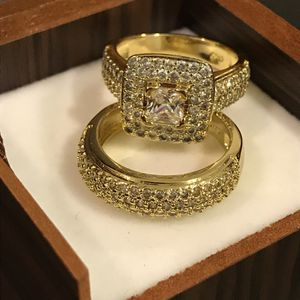 ✨🤩✨18K YELLOW GOLD✨ 🤩✨plated Ring Set💍💎 Highly Sparkling ✨ Multi BG Prince Cut for Sale in Dallas, TX