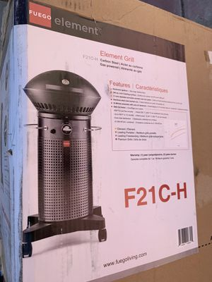 Fuego F21C-H Element Hinged Propane Gas Grill, NEW for Sale in Gilroy, CA