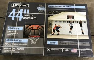 Lifetime Backboard And Rim Combo Kit for Sale in Martinez, CA