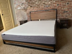 Bed Frame & memory foam for Sale in Des Moines, IA