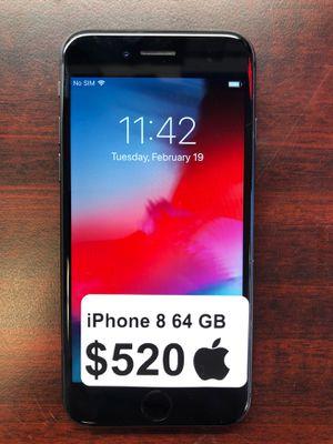 iPhone 8 Unlocked 64 GB $520$ No shipping for Sale in Arlington, VA