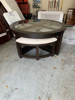 Pier 1 Brown Wood Coffee Table with Matching Side Table for Sale in Tampa, FL