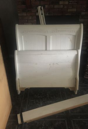 Bed frame and a bed base with four drowers twin size for Sale in Turlock, CA