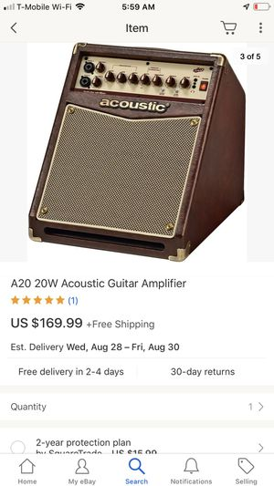 A20 acoustic electric guitar Amplifier 🏦🏦🏦🤑🤑🤑🤑 for Sale in Anaheim, CA