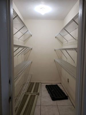 """ClosetMaid Closet Maid Closet System 7 rows of 103 """" long 12 """" wide Wire metal Shelves closet pantry Shelf shelving Set for Sale in Southwest Ranches, FL"""
