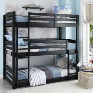 BH&G Tristan Twin Wood Bed New in Box (Black) for Sale in Las Vegas, NV