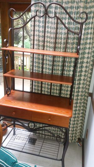 Wood & metal Bakers rack for Sale in Overland Park, KS
