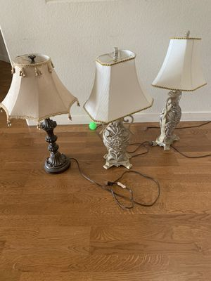 FREE- 3 table lamps. All work for Sale in Louisville, CO
