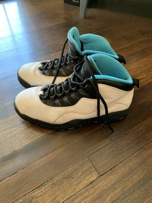 Nike Air Jordan X(10) Retro White/Dark Powder Blue-Black- Size 12 for Sale in Westchester, CA