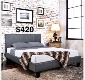 EASTERN KING BED FRAME W/ MATTRESS INCLUDED for Sale in Gardena, CA