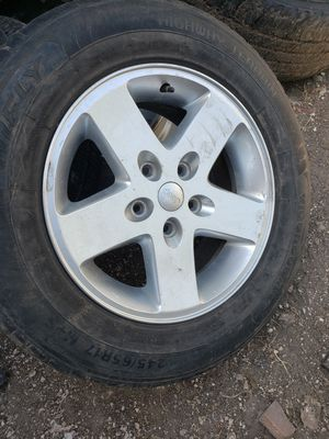 5 JEEP WRANGLER WHEELS AND 3 TIRES for Sale in Dallas, TX