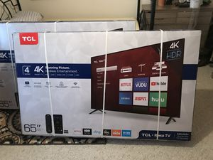 Brand new 65in smart 4k TV for Sale in Edgerton, MO