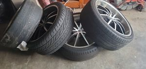22 Rims with tires for Sale in Wilmington, CA