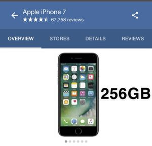 iPhone 7 (256 GB) $250 for Sale in Industry, CA