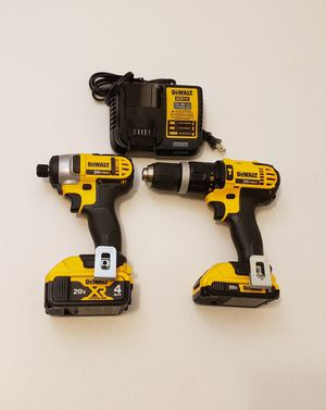 New Kit Combo Dewalt Hammer and Impact Drill whit Battery XR4 and 2.0AH FIRM PRICE for Sale in Woodbridge, VA