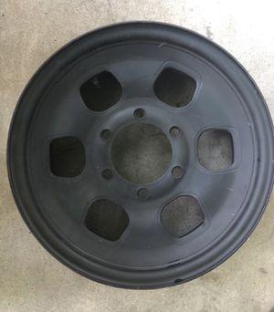 """Toyota Off-Road 15"""" 6 on 5.5"""" bolt pattern black steel heavy duty wheels for Sale in Downey, CA"""