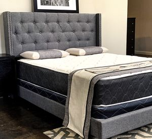 King bed plus King Plush Mattress (Free Delivery) for Sale in Dallas, TX