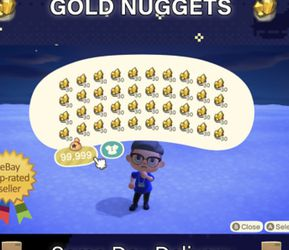 Nintendo Switch Animal Crossing Items Bells(1200 Gold Nuggets Is 12 Million Bells For $5) for Sale in Lake Oswego,  OR