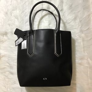 Armani Exchange AX Brand New Black Leather Tote With Tags for Sale in Ooltewah, TN