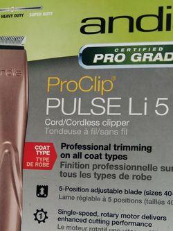 NEW !!! - CLIPPER'S/ ANDIS ProClip PULSE Li 5 - - CORDLESS for Sale in Phoenix,  AZ