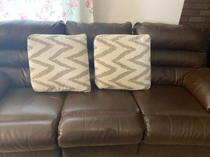 Leather couch for Sale in Visalia, CA