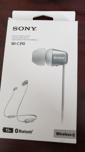 Sony WI-C310 Wireless Bluetooth In-ear Stereo Headphones Headset- White for Sale in Houston, TX