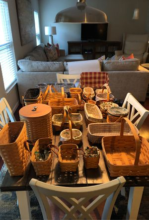 Longaberger baskets for Sale in Greenfield, IN