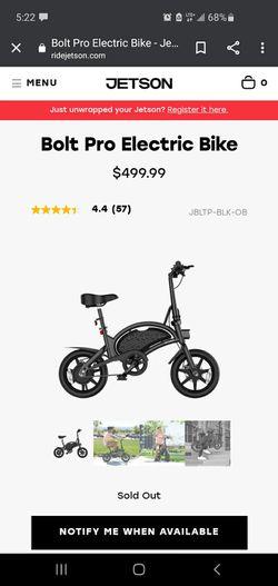 Jetson Electric Bike Pro for Sale in Bonney Lake,  WA